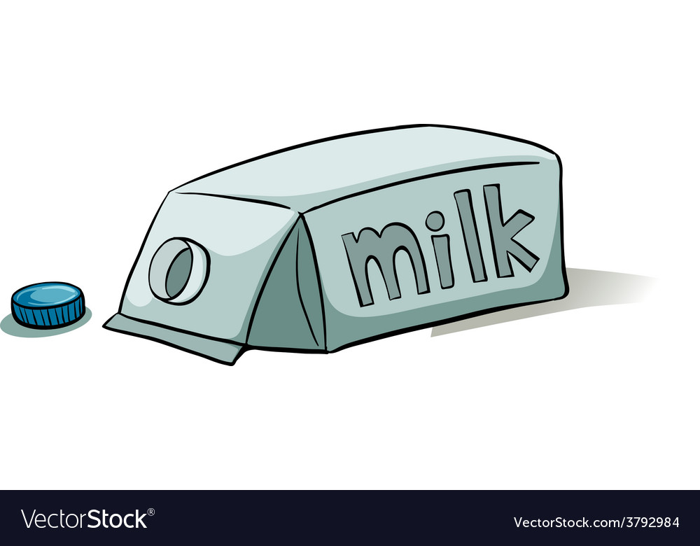 A milk container vector | Price: 1 Credit (USD $1)