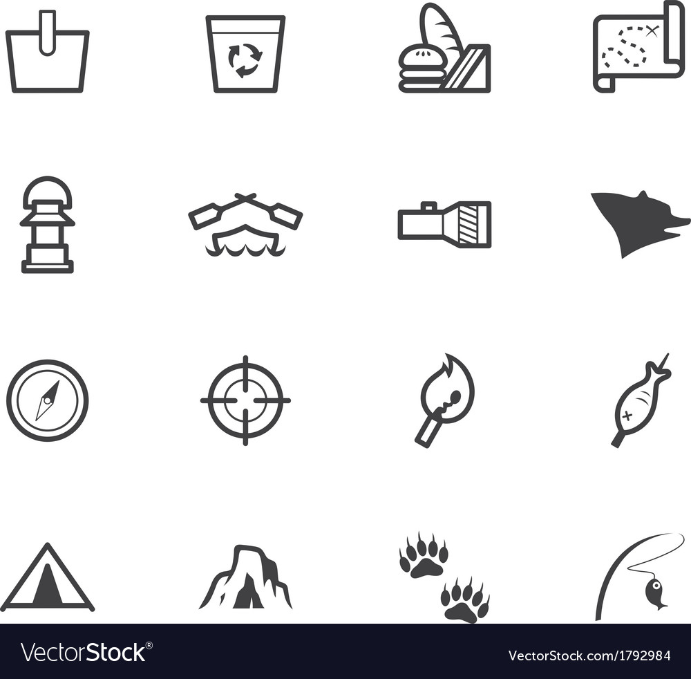 Camp black icon set on white background vector | Price: 1 Credit (USD $1)