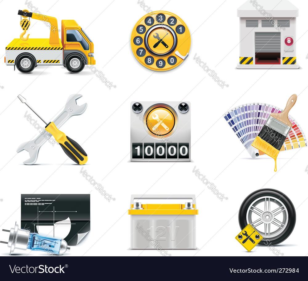 Car repair icons vector   Price: 3 Credit (USD $3)