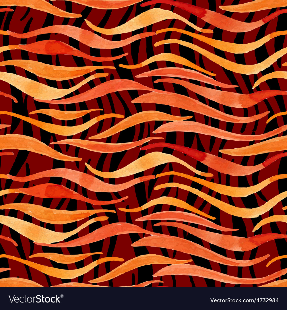 Fire flame watercolor seamless pattern-model for vector | Price: 1 Credit (USD $1)