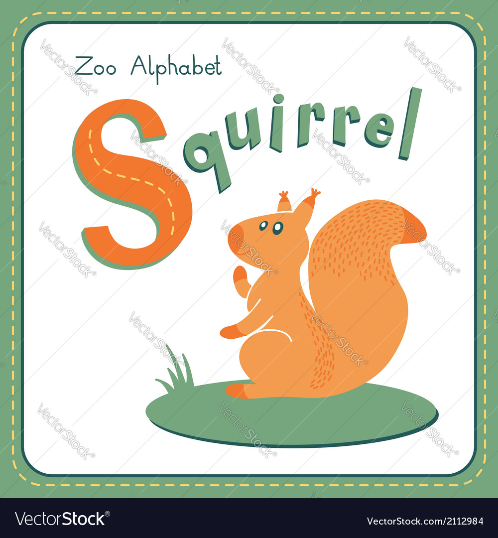 Letter s - squirrel vector | Price: 1 Credit (USD $1)