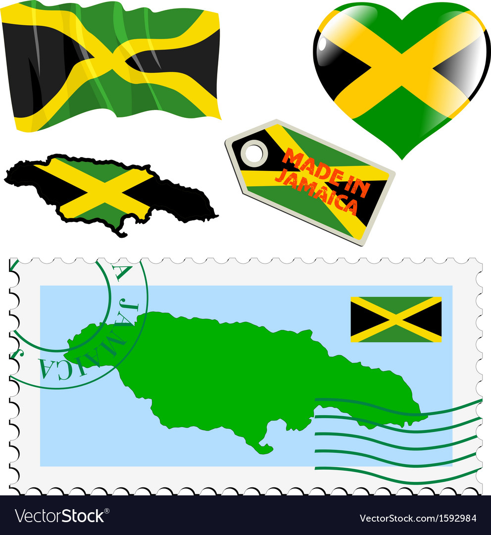 National colours of jamaica vector   Price: 1 Credit (USD $1)