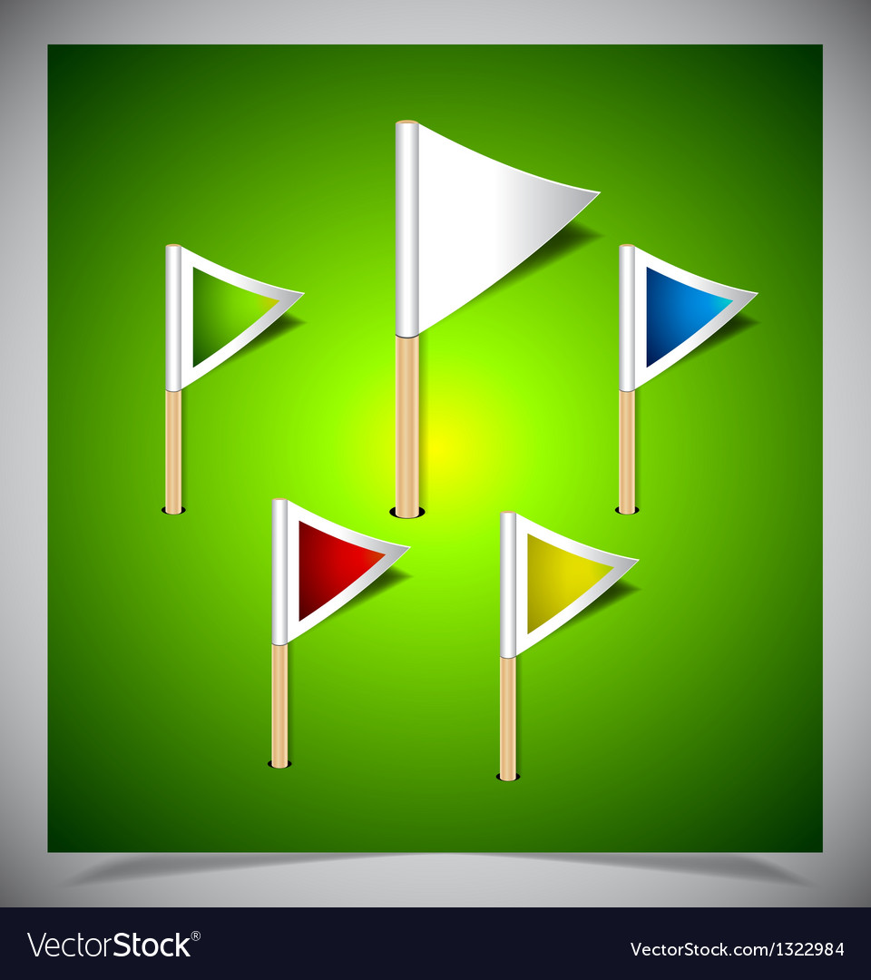 Set of multicolored flag pins vector | Price: 1 Credit (USD $1)