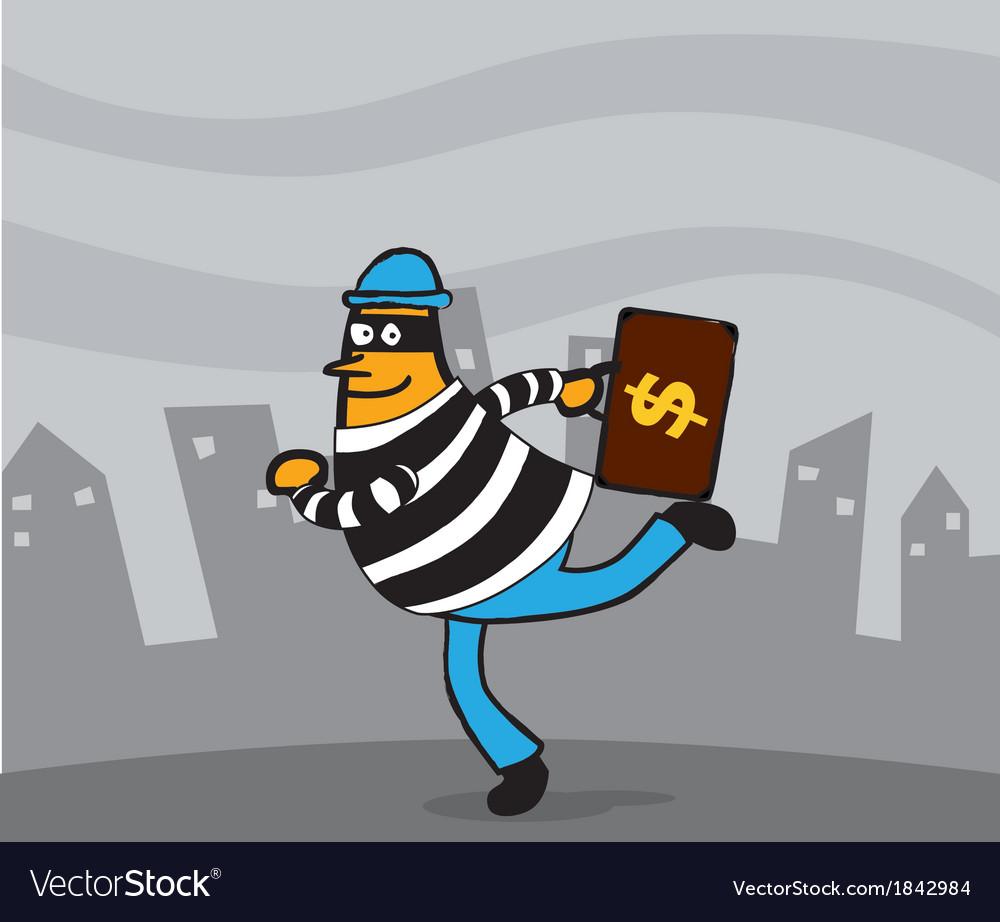 Thief cartoon vector   Price: 1 Credit (USD $1)