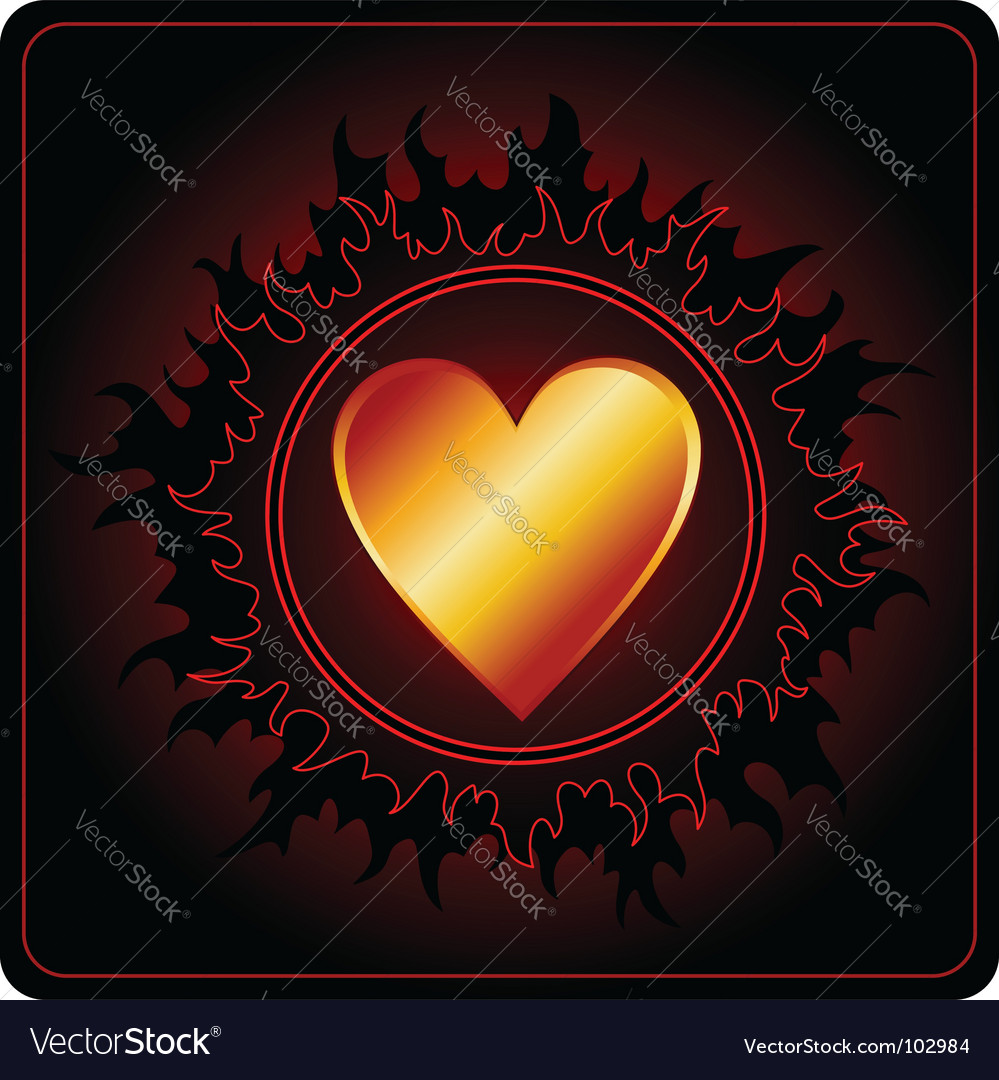 Valentines day card dark sun vector | Price: 1 Credit (USD $1)