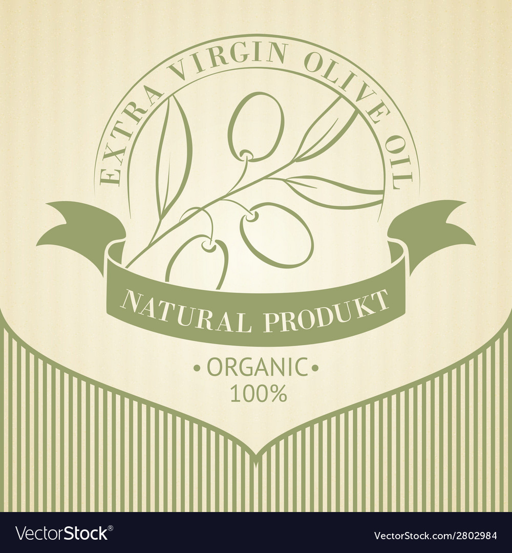 Vintage olive oil label vector | Price: 1 Credit (USD $1)