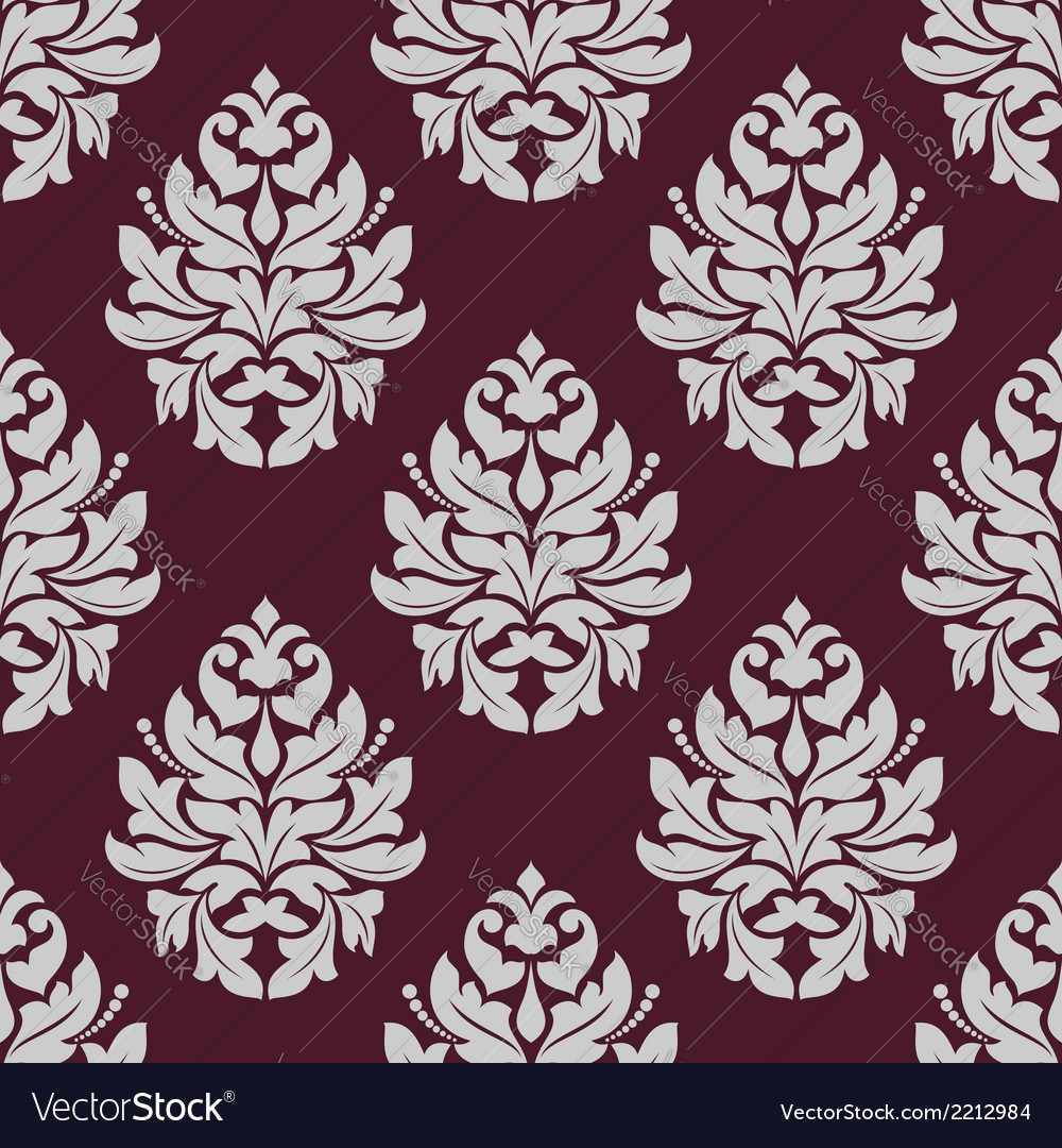Vintage seamless pattern in carmine and white vector | Price: 1 Credit (USD $1)