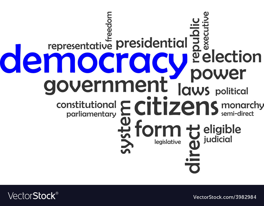 Word cloud democracy vector | Price: 1 Credit (USD $1)