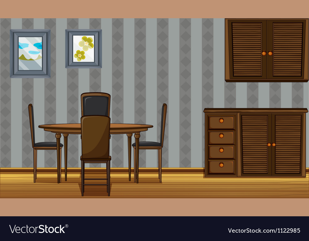 A dinning table and wardrobe vector | Price: 1 Credit (USD $1)