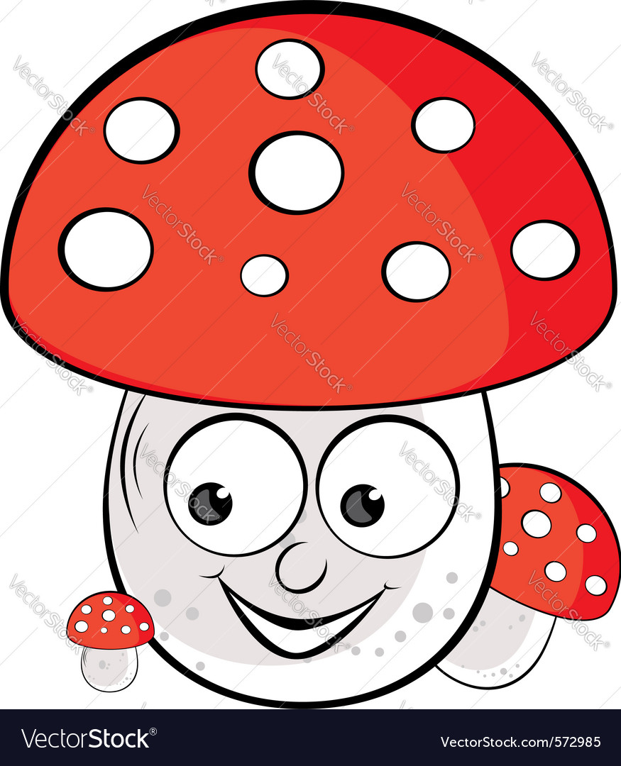 Acrylic of toadstool vector | Price: 1 Credit (USD $1)