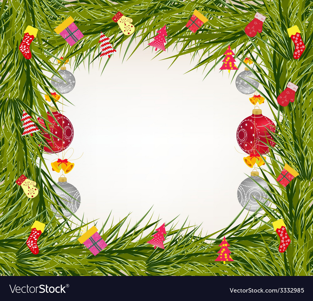 Christmas balls background vector