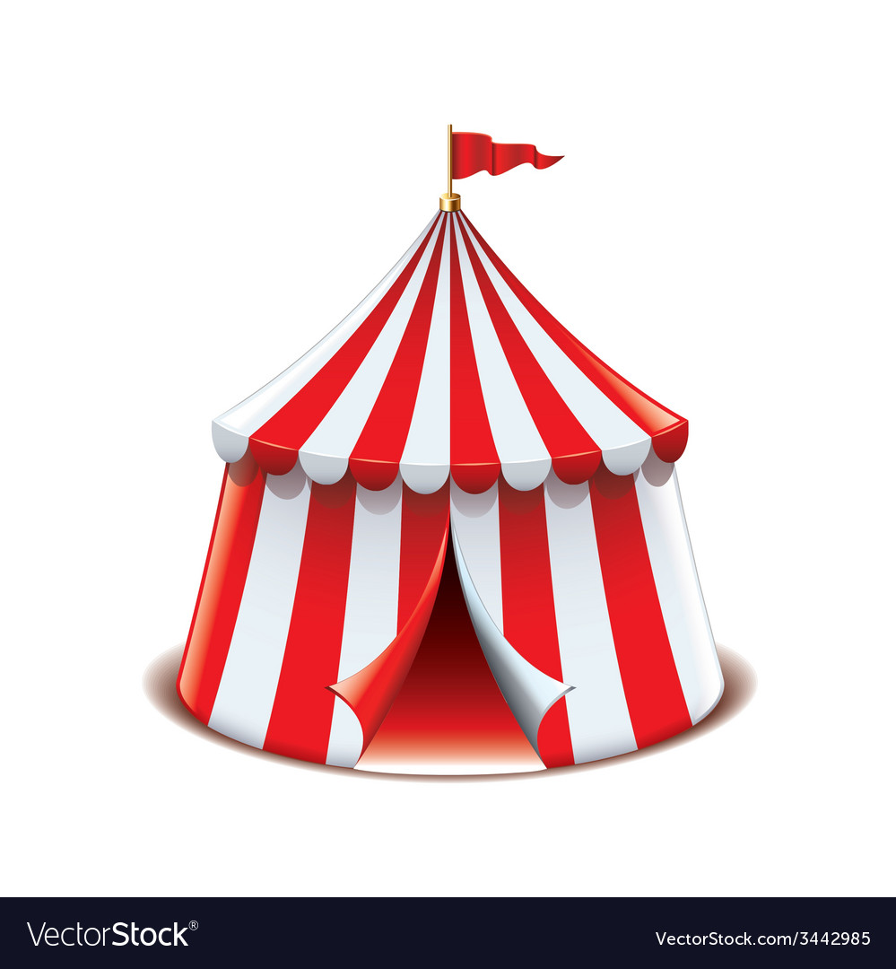 Circus tent isolated vector | Price: 1 Credit (USD $1)