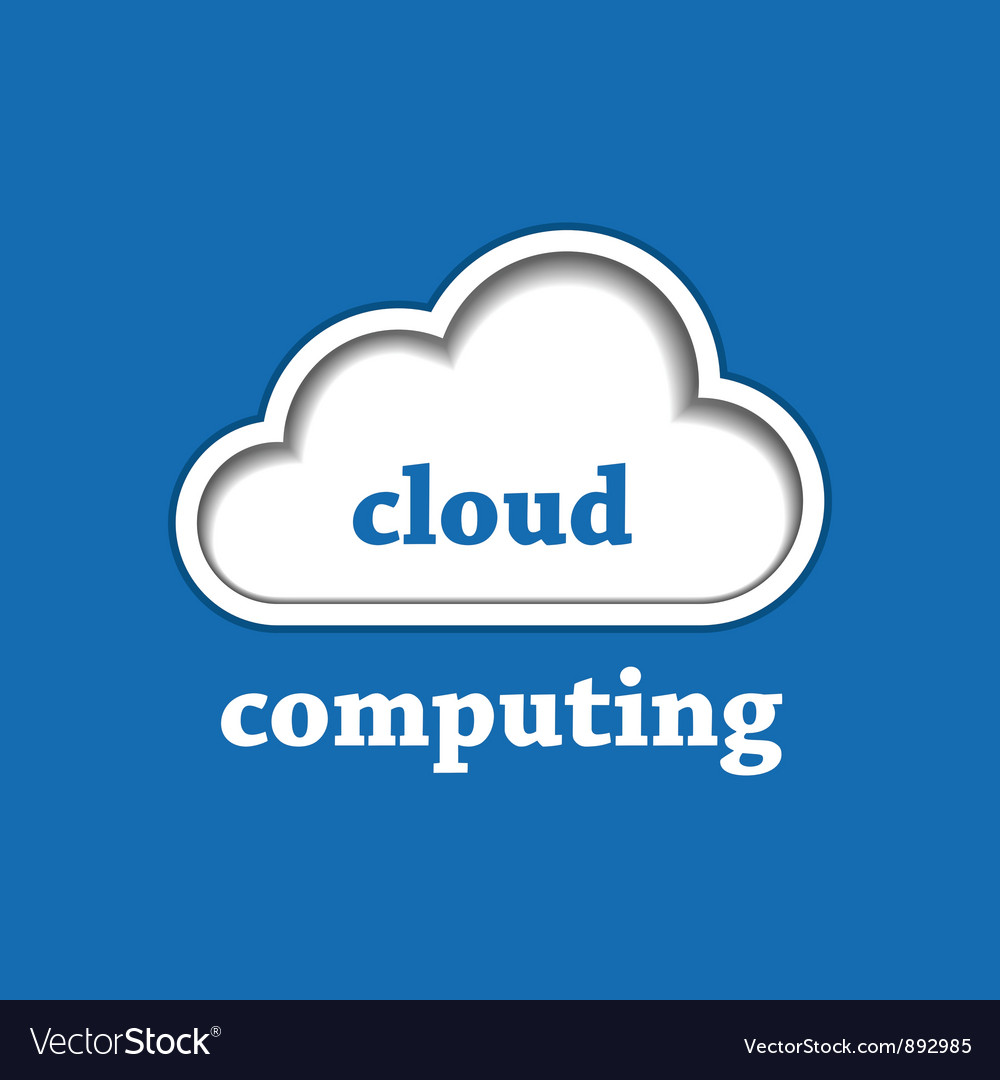 Cloud computing logo template vector | Price: 1 Credit (USD $1)