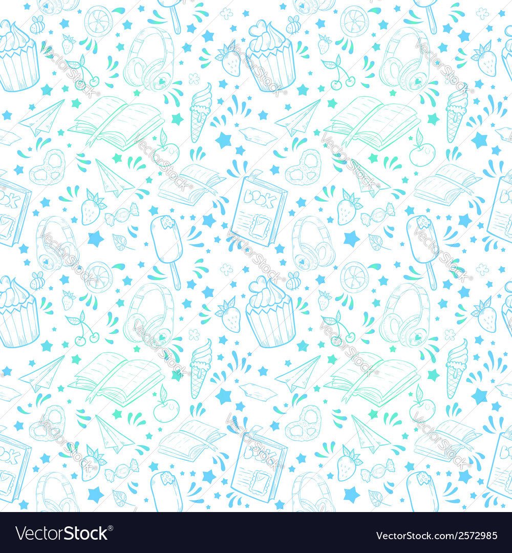 Festive summer seamless texture vector | Price: 1 Credit (USD $1)