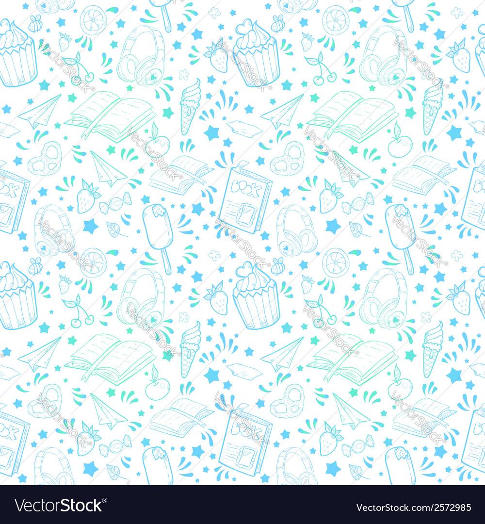 Festive summer seamless texture vector | Price: 1 Credit (USD $1)