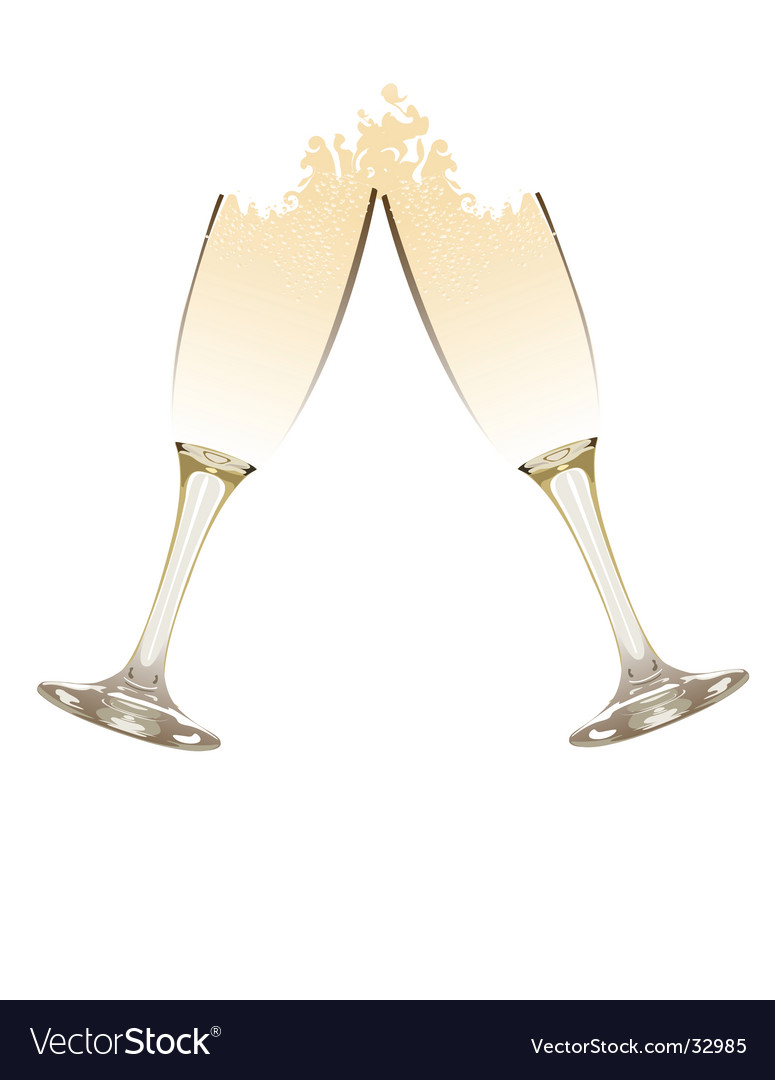French champagne glasses vector | Price: 1 Credit (USD $1)