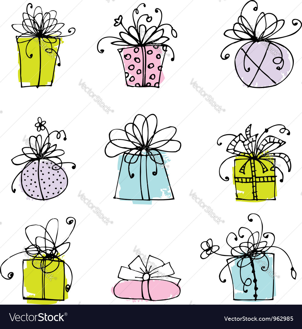 Gift box icons for your design vector | Price: 1 Credit (USD $1)