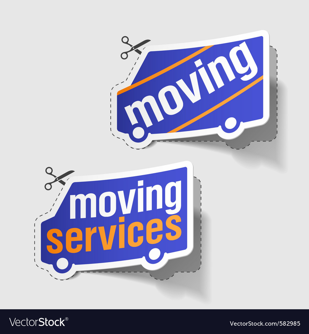 Moving services labels vector | Price: 1 Credit (USD $1)