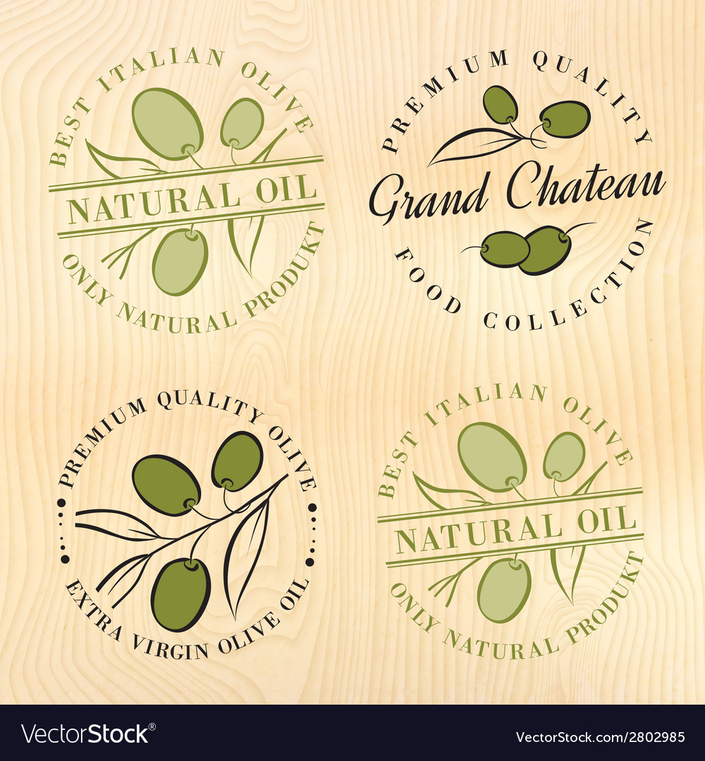Natural olive oil labels vector | Price: 1 Credit (USD $1)