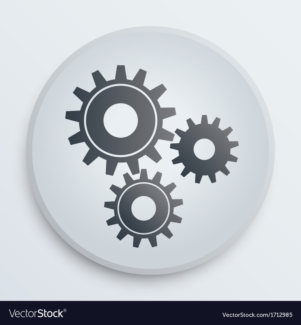 Simple icon with technology gears symbol vector | Price: 1 Credit (USD $1)