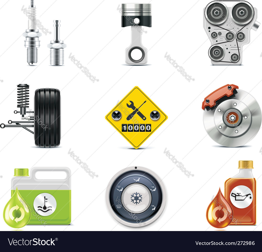 Car repair icons vector | Price: 3 Credit (USD $3)