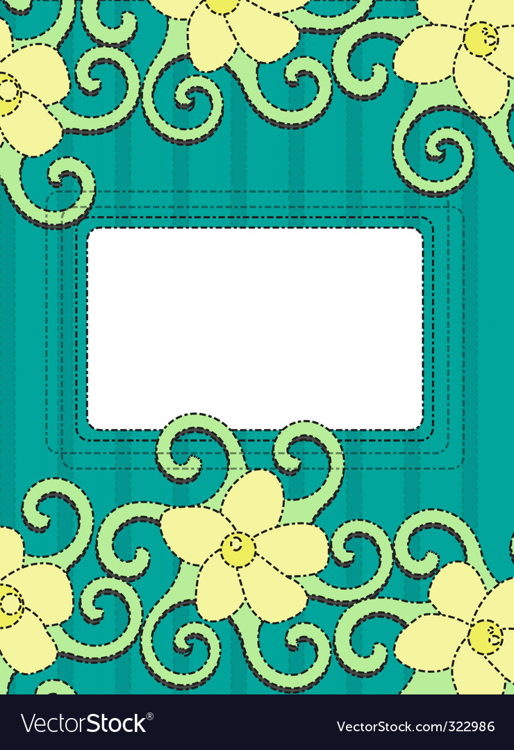 Floral frame retro background vector | Price: 1 Credit (USD $1)