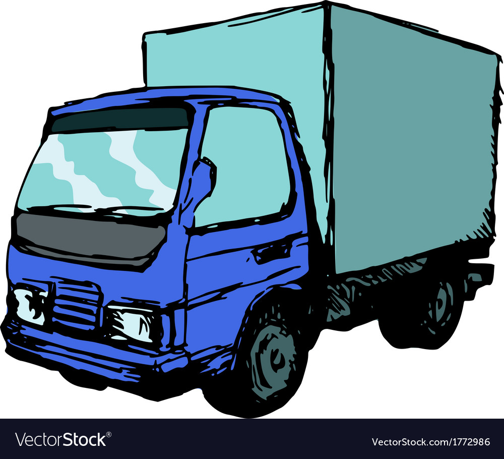 Mall truck vector | Price: 1 Credit (USD $1)