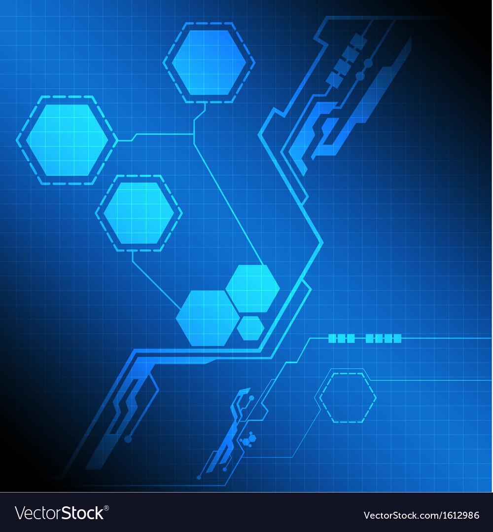 Modern interface technology screen vector | Price: 1 Credit (USD $1)