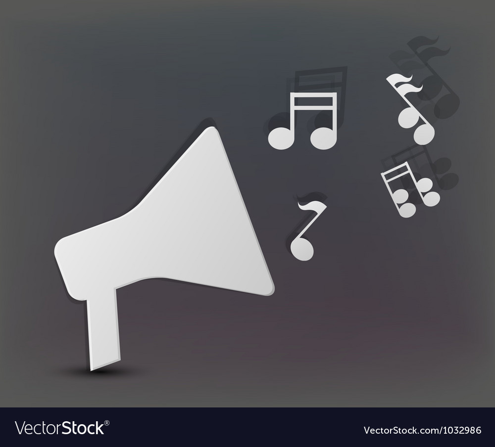 Musical speaker background vector | Price: 1 Credit (USD $1)