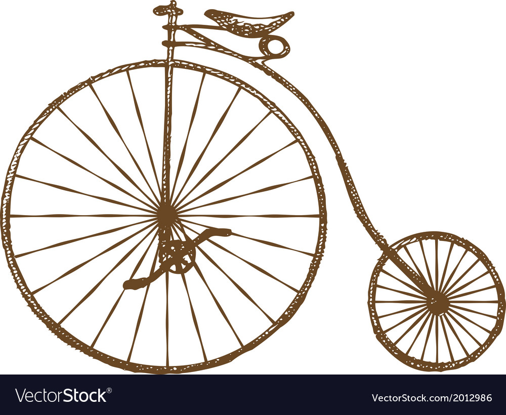 Old fashioned bicycle vector | Price: 1 Credit (USD $1)