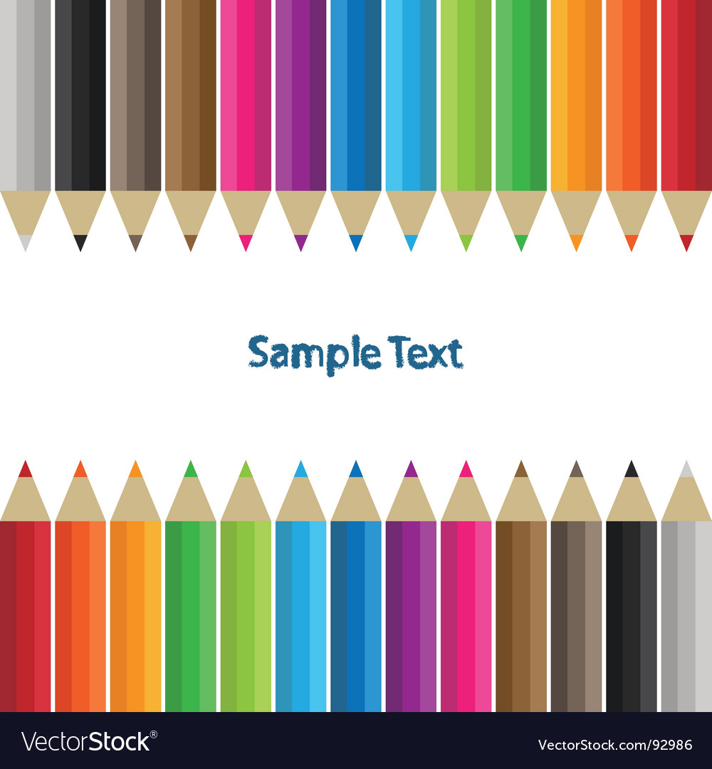 Pencil border vector | Price: 1 Credit (USD $1)