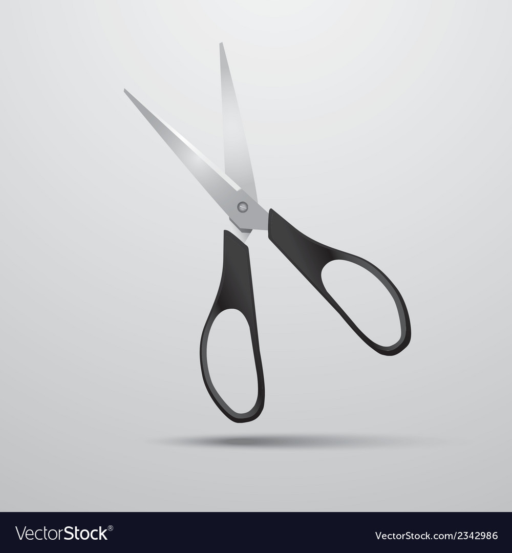 Scissors on a white background vector | Price: 1 Credit (USD $1)