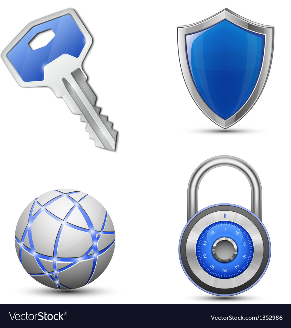 Security and protection symbols vector | Price: 1 Credit (USD $1)