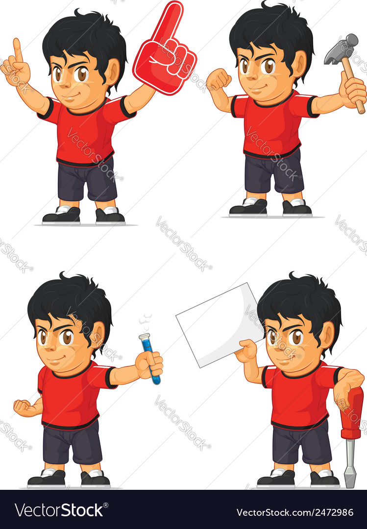 Soccer boy customizable mascot 6 vector | Price: 1 Credit (USD $1)