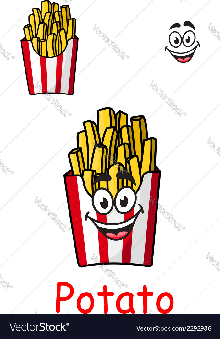 Takeaway box of fried potato chips vector | Price: 1 Credit (USD $1)