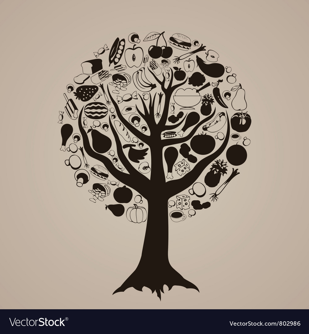 Tree meal vector | Price: 1 Credit (USD $1)