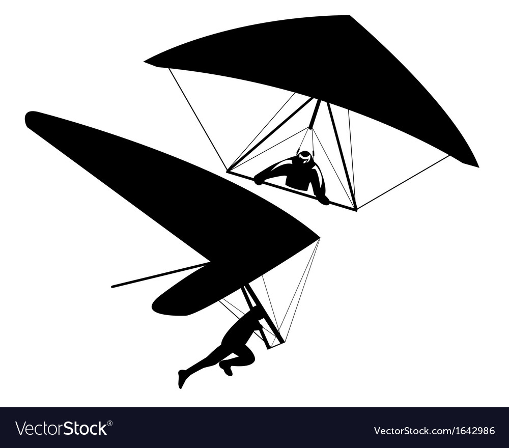 Two hang gliders vector | Price: 1 Credit (USD $1)