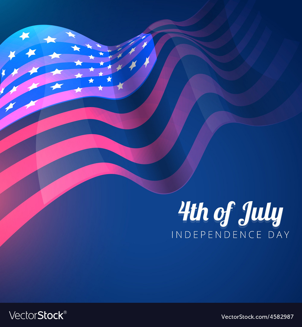 American flag 4th of july background vector | Price: 1 Credit (USD $1)