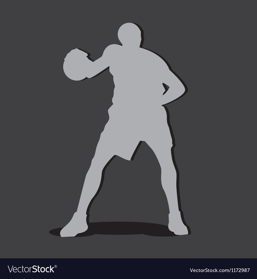 Basketball player shilouete vector | Price: 1 Credit (USD $1)