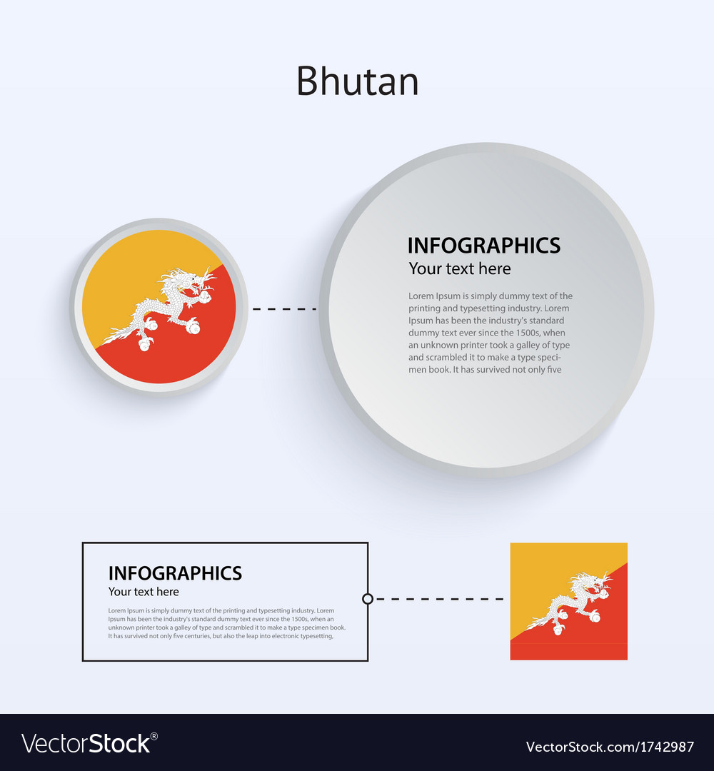 Bhutan country set of banners vector | Price: 1 Credit (USD $1)
