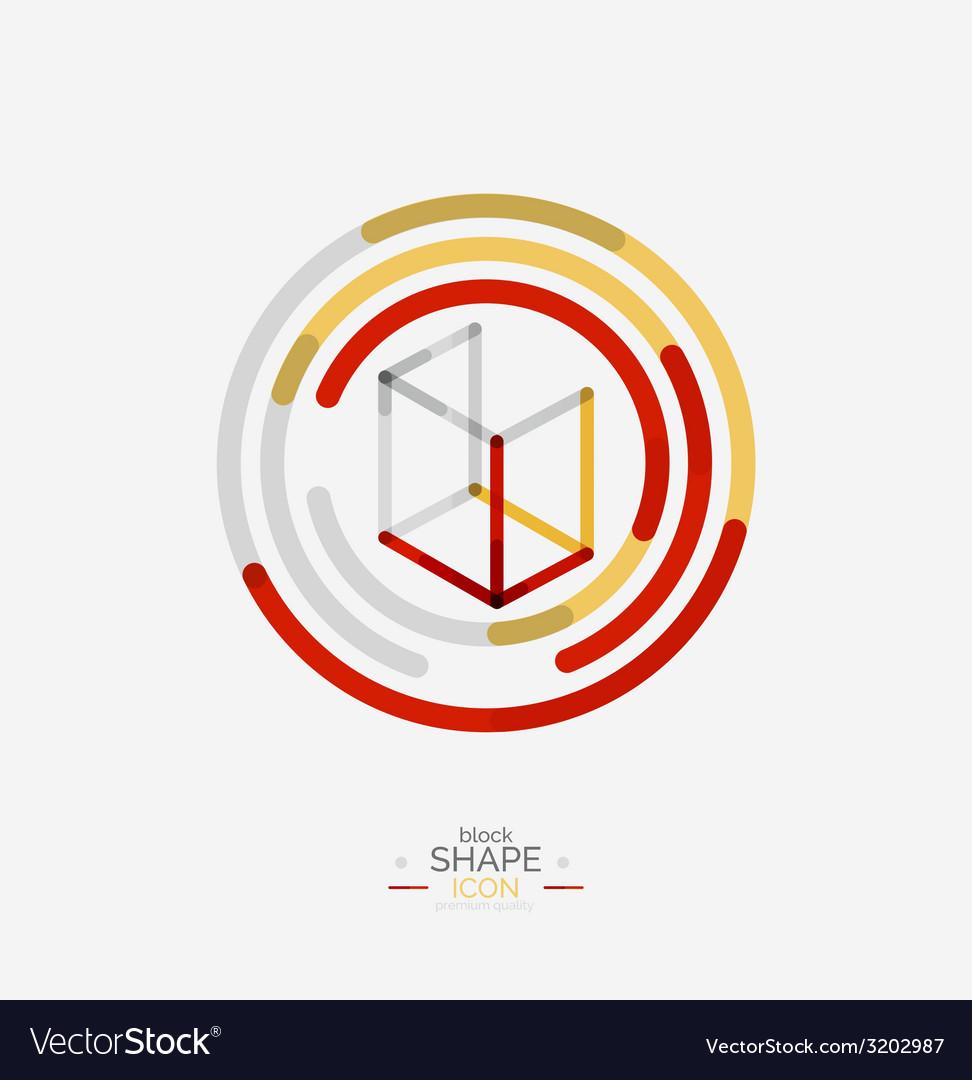 Minimal line design logo business icon block vector   Price: 1 Credit (USD $1)