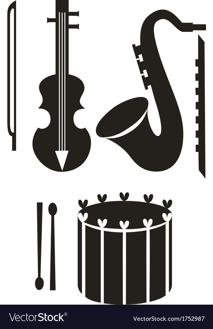 Music tool black 01 vector | Price: 1 Credit (USD $1)
