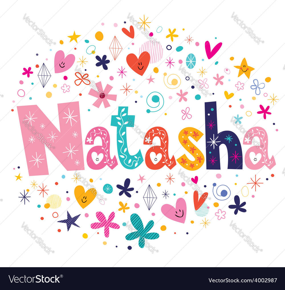 Natasha name design vector | Price: 1 Credit (USD $1)