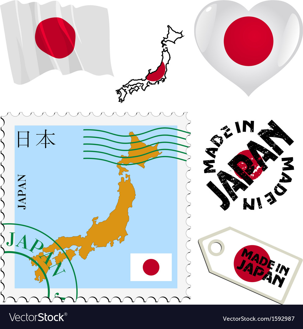 National colours of japan vector   Price: 1 Credit (USD $1)
