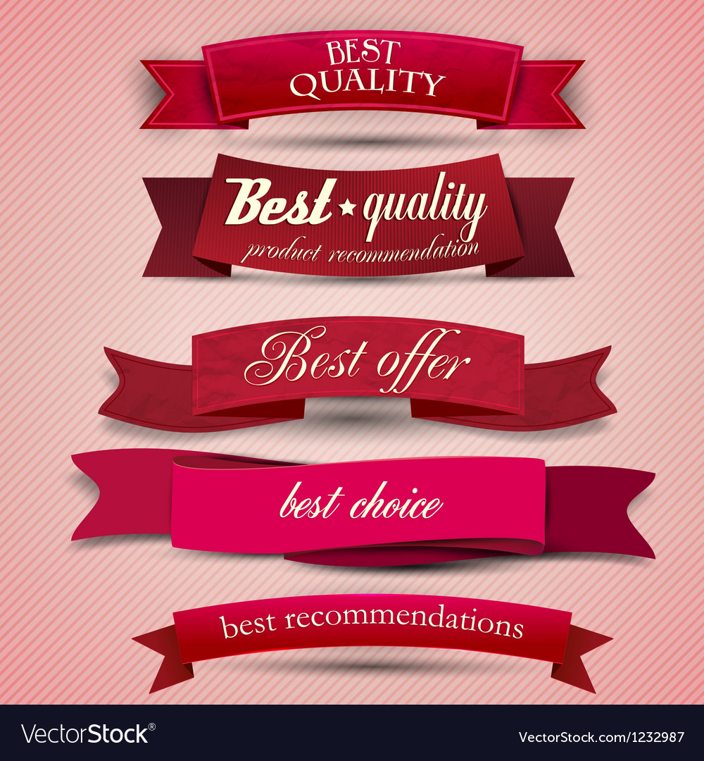 Set of superior quality and satisfaction guarantee vector | Price: 1 Credit (USD $1)