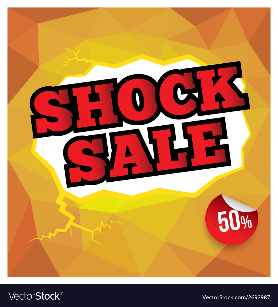 Shock sale banner vector | Price: 1 Credit (USD $1)