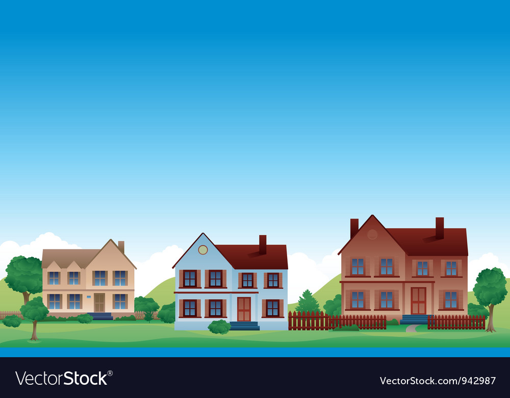 Suburb background vector | Price: 3 Credit (USD $3)