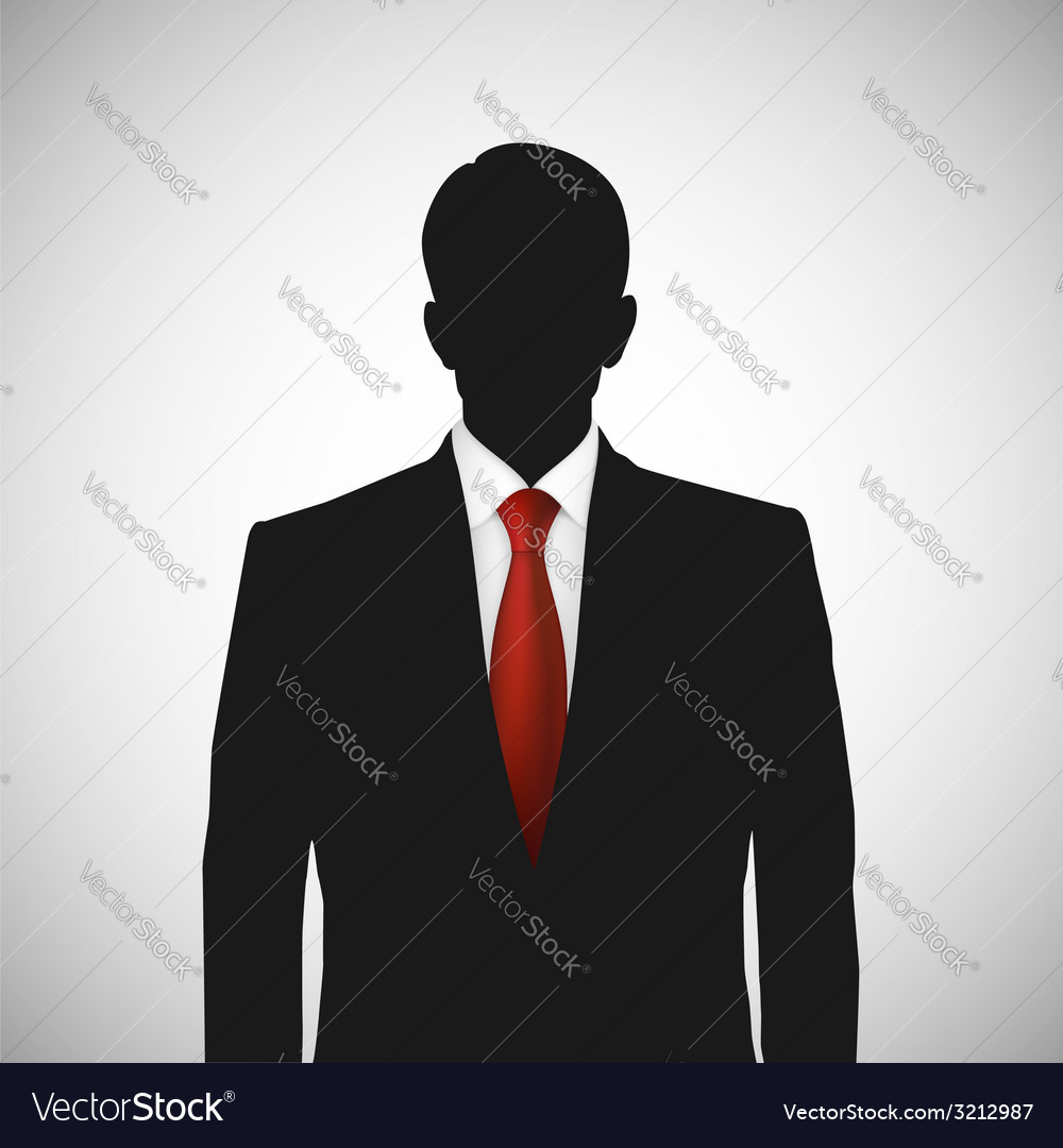 Unknown person silhouette whith red tie vector | Price: 1 Credit (USD $1)