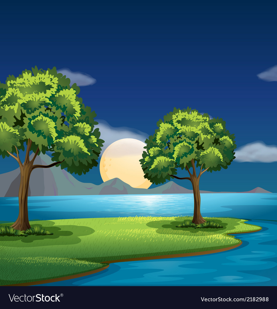 The blue and green colors of nature vector | Price: 3 Credit (USD $3)