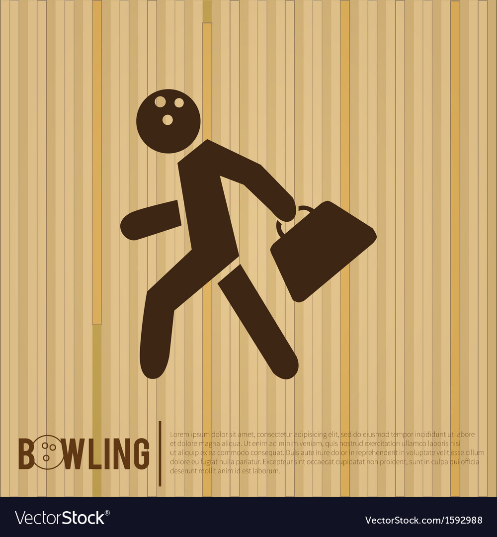 Bowler bowling alley vector | Price: 1 Credit (USD $1)